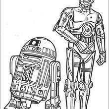 Dibujo para colorear : R2-D2 y C-3PO