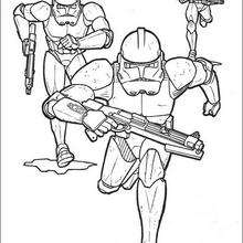 Dibujo para colorear : Soldados Clones del Emperio