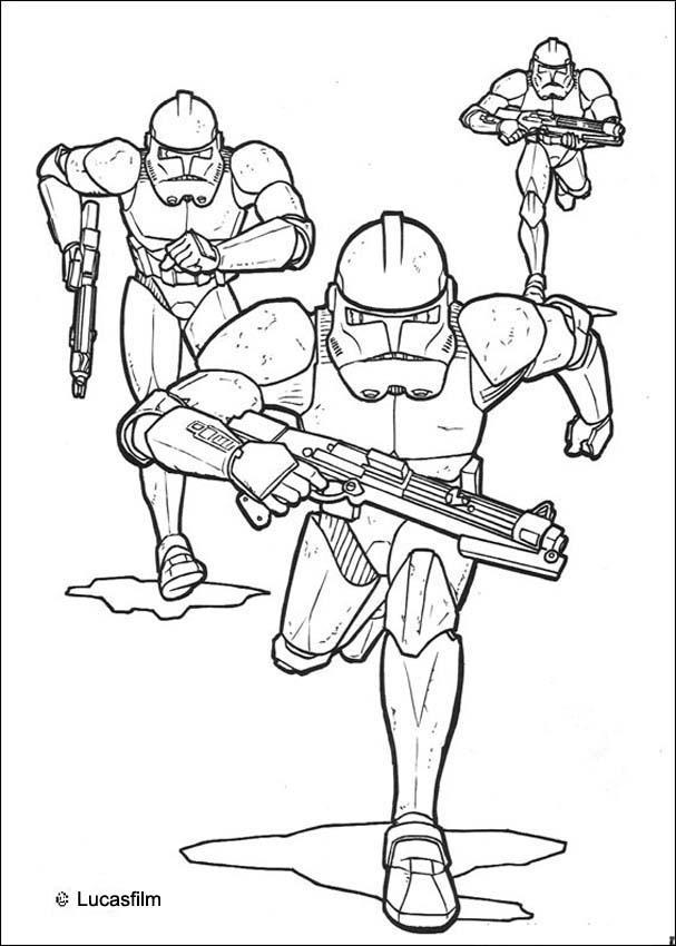 Dibujos para colorear soldados clones del emperio - es.hellokids.com