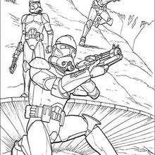 Soldados clones con armas - Dibujos para Colorear y Pintar - Dibujos de PELICULAS colorear - Dibujos para colorear STAR WARS - Dibujos para colorear CLONES STAR WARS