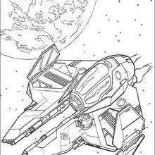 La nave de Obi Wan Kenobi - Dibujos para Colorear y Pintar - Dibujos de PELICULAS colorear - Dibujos para colorear STAR WARS - Dibujos para colorear NAVES STAR WARS
