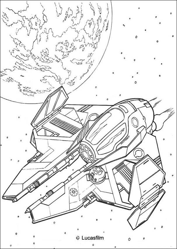 Dibujos para colorear la nave de obi wan kenobi - es.hellokids.com