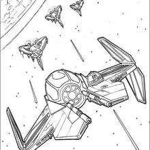 Nave en la galaxia - Dibujos para Colorear y Pintar - Dibujos de PELICULAS colorear - Dibujos para colorear STAR WARS - Dibujos para colorear NAVES STAR WARS