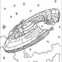 Nave de la Federación del comercio - Dibujos para Colorear y Pintar - Dibujos de PELICULAS colorear - Dibujos para colorear STAR WARS - Dibujos para colorear NAVES STAR WARS