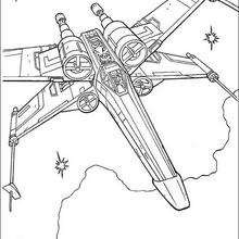 Ala-X de Luke Skywalker - Dibujos para Colorear y Pintar - Dibujos de PELICULAS colorear - Dibujos para colorear STAR WARS - Dibujos para colorear LUKE SKYWALKER