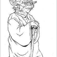 Yoda el sabio - Dibujos para Colorear y Pintar - Dibujos de PELICULAS colorear - Dibujos para colorear STAR WARS - Dibujos para colorear MAESTRO YODA