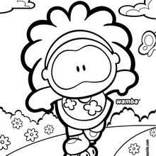 Dibujo de Wamba patinando - Dibujos para Colorear y Pintar - Dibujos para colorear PERSONAJES - PERSONAJES COMIC para colorear - Dibujos para colorear GUSANITO - Dibujos para pintar WAMBA