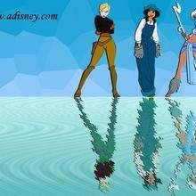 Fondo de pantalla : Helga, Audrey y Kida