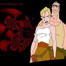 Fondo de pantalla : Helga y Rourke