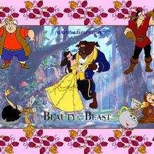 Fondo de pantalla : La bella y la bestia, y sus amigos