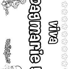 DAGMARIE colorear nombres niñas - Dibujos para Colorear y Pintar - Dibujos para colorear NOMBRES - Dibujos para colorear NOMBRES NIÑAS