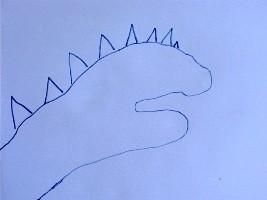 Dibujar un dinosaurio - Dibujar Dibujos - Aprender cómo dibujar paso a paso - Dibujar dibujos ANIMALES - Dibujar animales CON TU MANO