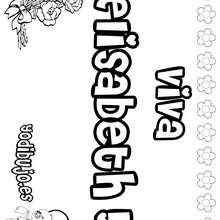 ELISABETH colorear nombres niñas - Dibujos para Colorear y Pintar - Dibujos para colorear NOMBRES - Dibujos para colorear NOMBRES NIÑAS