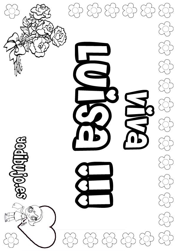 Dibujos para colorear luisa - es.hellokids.com