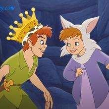 Fondo de pantalla : Peter Pan con Jane disfrazada