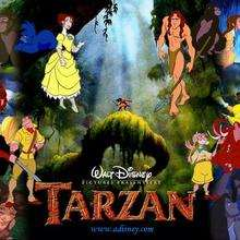 Fondo de pantalla : Tarzán y sus amigos