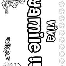YAMILE colorear nombres niñas - Dibujos para Colorear y Pintar - Dibujos para colorear NOMBRES - Dibujos para colorear NOMBRES NIÑAS