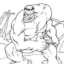 Dibujo para colorear : Hulk
