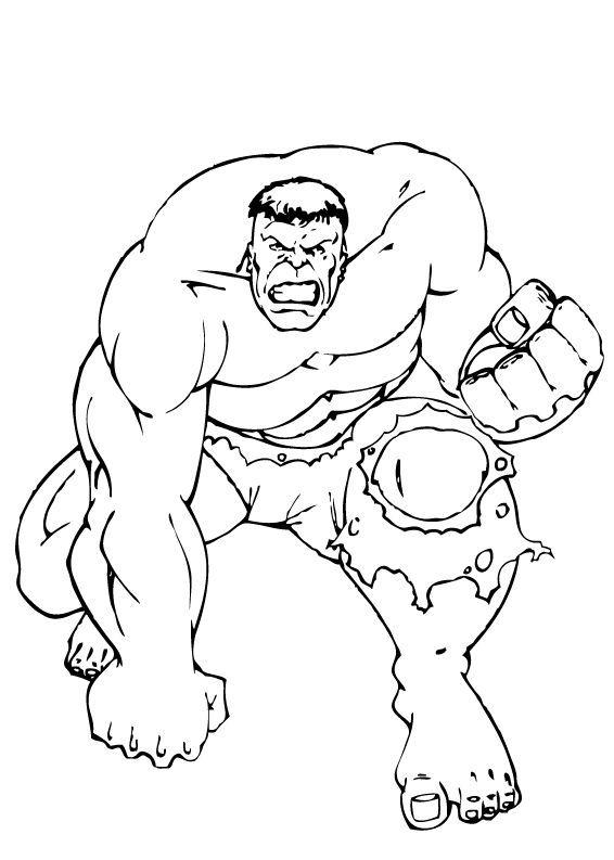 Dibujos para colorear hulk de rodillas  eshellokidscom
