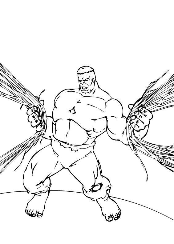 Dibujos de Hulk para colorear - Pintar e imprimir 60 dibujos de Hulk