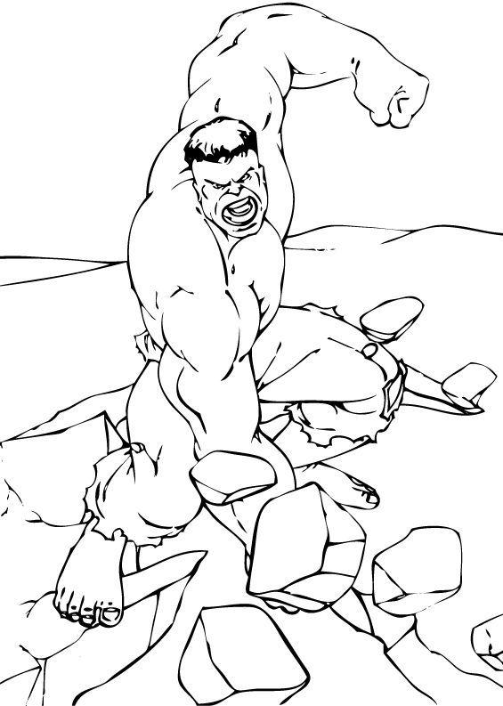 Dibujos para colorear el increíble hulk - es.hellokids.com