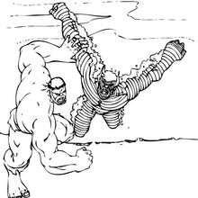 Dibujo para colorear : Hulk contra Abominación