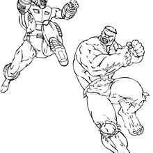 Hulk contra el Leader - Dibujos para Colorear y Pintar - Dibujos para colorear SUPERHEROES - Hulk para colorear