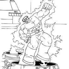 Dibujo para colorear : Hulk electrocutado