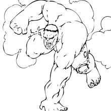 La furia de Hulk - Dibujos para Colorear y Pintar - Dibujos para colorear SUPERHEROES - Hulk para colorear