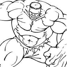 Dibujo para colorear : Hulk y sus músculos