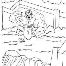 Hulk corriendo - Dibujos para Colorear y Pintar - Dibujos para colorear SUPERHEROES - Hulk para colorear