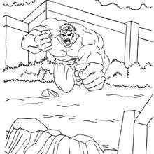 Dibujo para colorear : Hulk corriendo