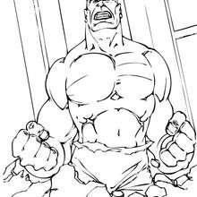 Dibujo para colorear : Hulk furiosisimo