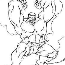Hulk se enoja - Dibujos para Colorear y Pintar - Dibujos para colorear SUPERHEROES - Hulk para colorear
