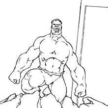 Dibujo para colorear : Hulk sale del suelo