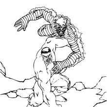 Hulk con la Abominación - Dibujos para Colorear y Pintar - Dibujos para colorear SUPERHEROES - Hulk para colorear