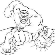 Hulk te está desafiando - Dibujos para Colorear y Pintar - Dibujos para colorear SUPERHEROES - Hulk para colorear