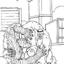 Hulk vence a la Abominación - Dibujos para Colorear y Pintar - Dibujos para colorear SUPERHEROES - Hulk para colorear