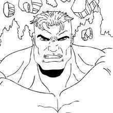 Hulk el vencedor - Dibujos para Colorear y Pintar - Dibujos para colorear SUPERHEROES - Hulk para colorear