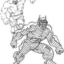 Hulk contra Abominación - Dibujos para Colorear y Pintar - Dibujos para colorear SUPERHEROES - Hulk para colorear