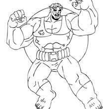 El potente Hulk - Dibujos para Colorear y Pintar - Dibujos para colorear SUPERHEROES - Hulk para colorear