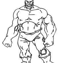 El Increíble Hulk - Dibujos para Colorear y Pintar - Dibujos para colorear SUPERHEROES - Hulk para colorear