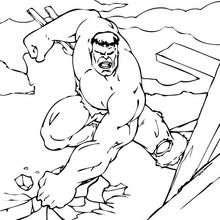 La destrucción de Hulk - Dibujos para Colorear y Pintar - Dibujos para colorear SUPERHEROES - Hulk para colorear