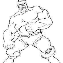 Dibujo para colorear : La fuerza de Hulk