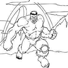 Dibujo para colorear : Hulk está furioso