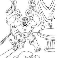 Dibujo para colorear : Hulk desesperado