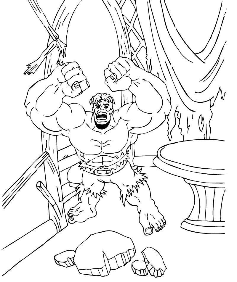 Dibujos para colorear hulk desesperado - es.hellokids.com