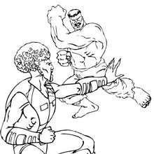 Dibujo para colorear : Le Leader contra Hulk