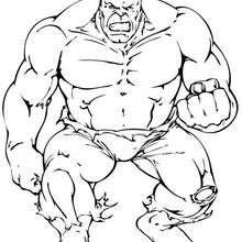 El puño de Hulk - Dibujos para Colorear y Pintar - Dibujos para colorear SUPERHEROES - Hulk para colorear