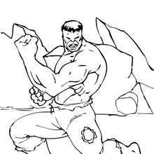 Los músculos de Hulk - Dibujos para Colorear y Pintar - Dibujos para colorear SUPERHEROES - Hulk para colorear